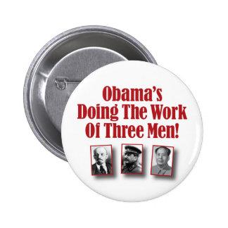 ¡Obama que hace el trabajo de tres hombres! Pin