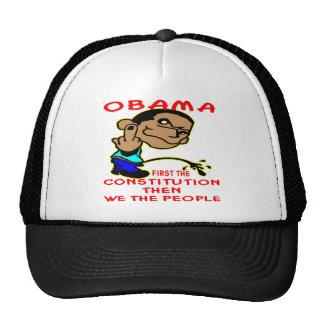 Obama que hace pis en la constitución y nosotros l gorras de camionero