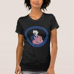 Obama que lleva el juego de la bandera americana camiseta