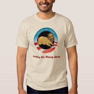 Obama que lleva las ovejas extraviadas camisas