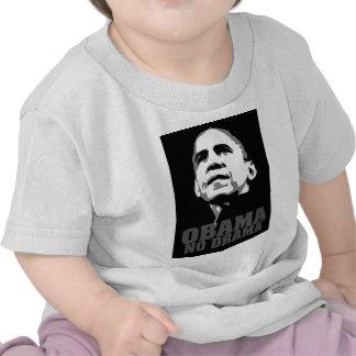 Obama que ningún drama nuevo no politick, ingenios camisetas
