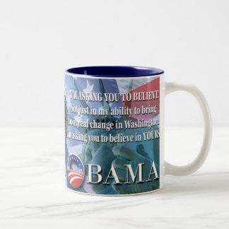 Obama que pide que usted crea la taza