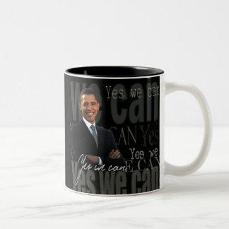Obama que podemos asaltar sí taza dos tonos