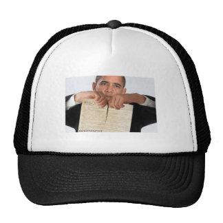 Obama que rasga para arriba la constitución gorro de camionero