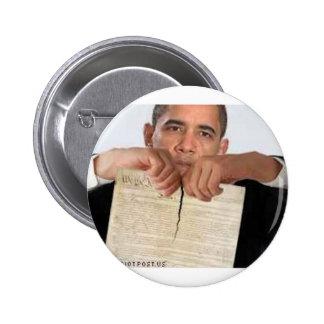 Obama que rasga para arriba la constitución pins