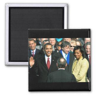 obama que toma el imán del juramento