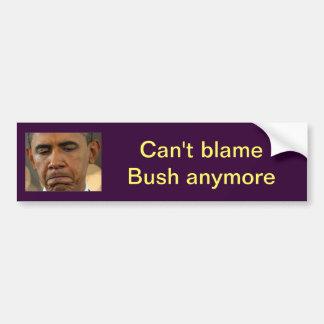 Obama que va a culpar pegatina para auto