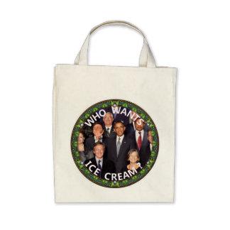 Obama quiere el helado bolsas