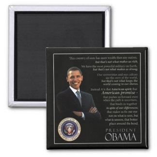 Obama Quote 2 Inch Square Magnet