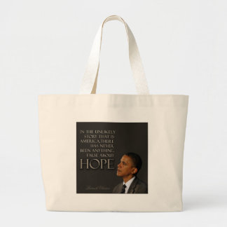 Obama Quote Large Tote Bag