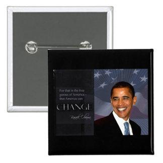 Obama Quote Pinback Button