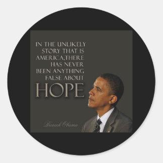 Obama Quote Round Stickers