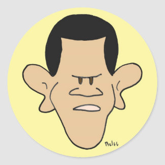 obama racial profiling impeach classic round sticker