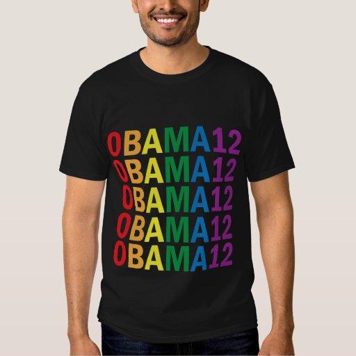 Obama Rainbow Pride 2012 Women's Shirt