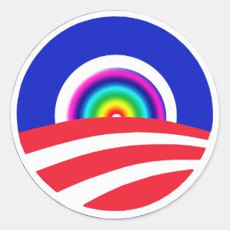 Obama Rainbow Stickers