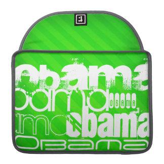Obama; Rayas verdes de neón Funda Para Macbook Pro