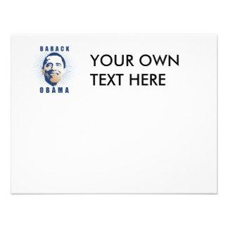 Obama rays blue personalized invitation