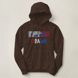 Obama Re-Elect Embroidered Hoodie