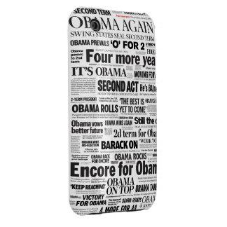 Obama Re-Elected 2012 Headline iPhone 3 Case