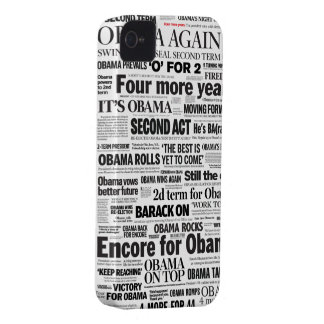 Obama Re-Elected 2012 Headline iPhone 5 Case