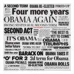 Obama Re-Election Headline Poster