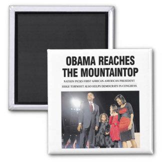 Obama Reaches the Mountaintop Magnet