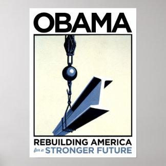 Obama: Rebuilding America Print