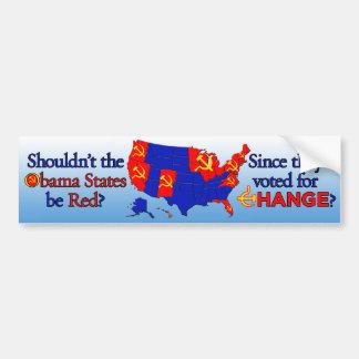 Obama - Red States Reverse Elec Map Bumper Sticker