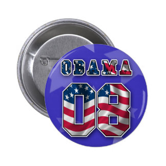 OBAMA RED WHITE AND BLUE BUTTON