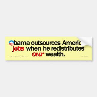 Obama redistribuye a la pegatina para el parachoqu etiqueta de parachoque