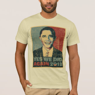 Obama Reelected 2012 distressed T-Shirt