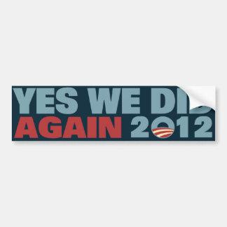 Obama reeligió 2012 etiqueta de parachoque