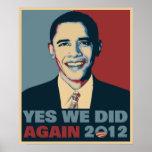 Obama reeligió 2012 poster