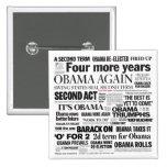 Obama reeligió el botón del collage del título pin