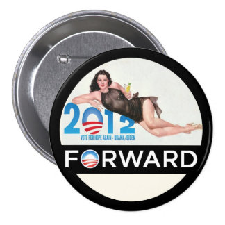 Obama remite 2012 pin redondo 7 cm