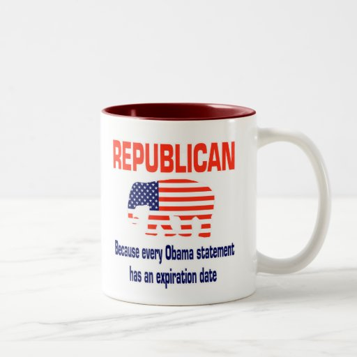 Obama republicano divertido taza de café
