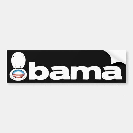 Obama (retrete) pegatina de parachoque