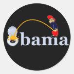 Obama (retrete) pegatina redonda