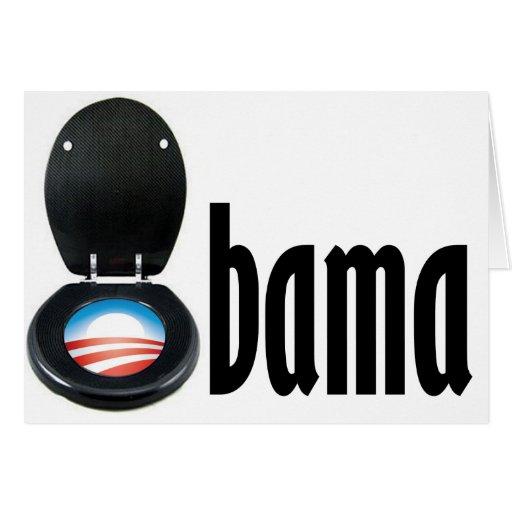 Obama (retrete) tarjeta