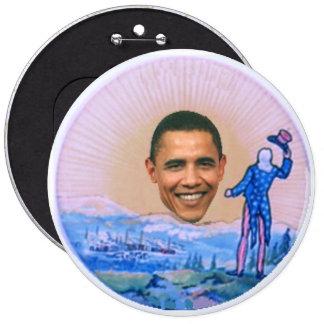 """Obama Retro 6"""" Button"""