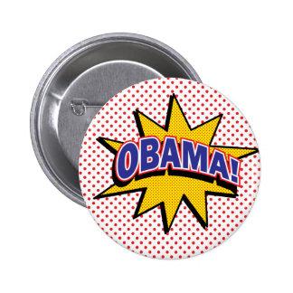 OBAMA! Retro Comic Halftone Print Pins