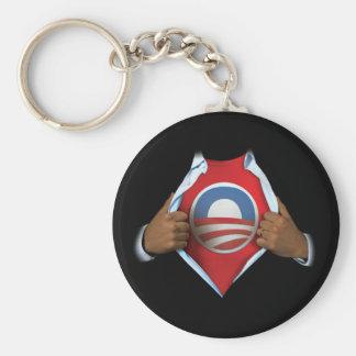 Obama revela llavero redondo tipo pin