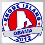 Obama - Rhode Island Poster