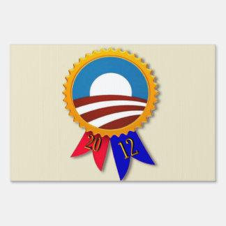 Obama Ribbon / Forward 2012 Yard Sign