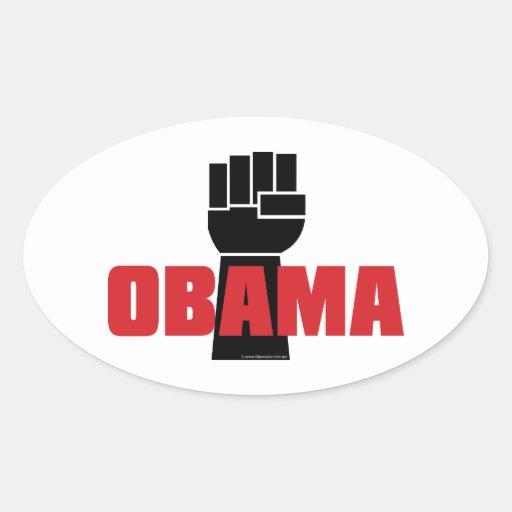 Obama Right On! Black Fist Stickers