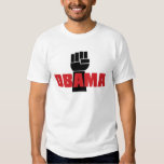 Obama Right On! Black Fist T-Shirt