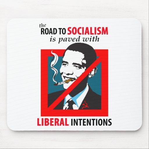 Obama:  Road To Socialism Mousepad