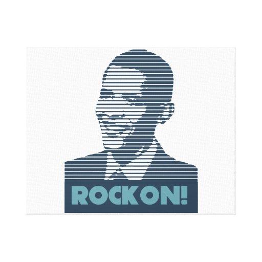 ¡Obama Rockon! Impresión estirada de la lona Impresión De Lienzo