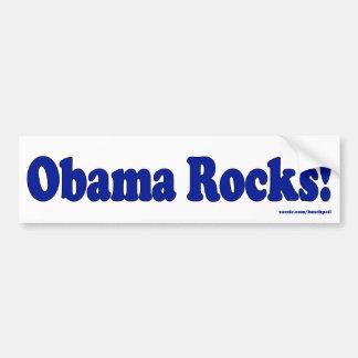 Obama Rocks Bumpersticker Car Bumper Sticker