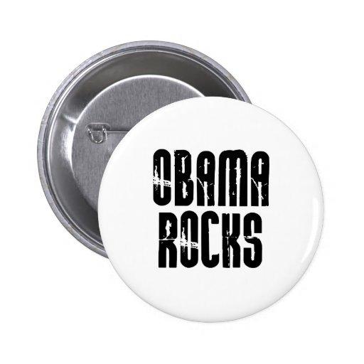 Obama Rocks Button